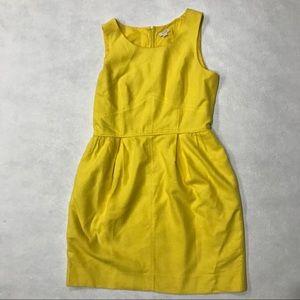 J Crew Basket Weave Shift Dress in Retro Lemon